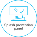 Splash prevention panel